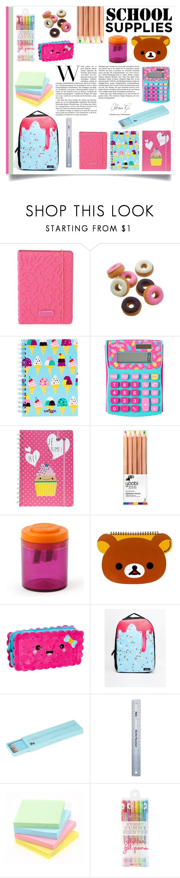 """School supplies"" by sarah-09013112 ❤ liked on Polyvore featuring interior, interiors, interior design, home, home decor, interior decorating, Marc by Marc Jacobs, Yoobi, Urban Junk and Polite"