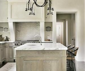 52 best images about cabinets on pinterest pewter stains and subway tile backsplash - Whitewashed oak cabinets ...