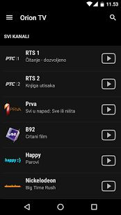 Orion TV– сличица снимка екрана