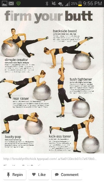 Swiss ball workout - this is so happening