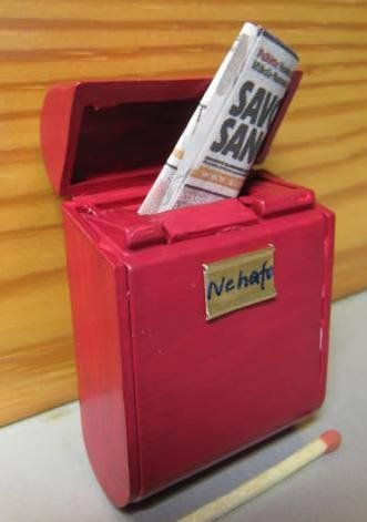 dental floss box = dollhouse mailbox. My dollhouse absolutely would have had one.