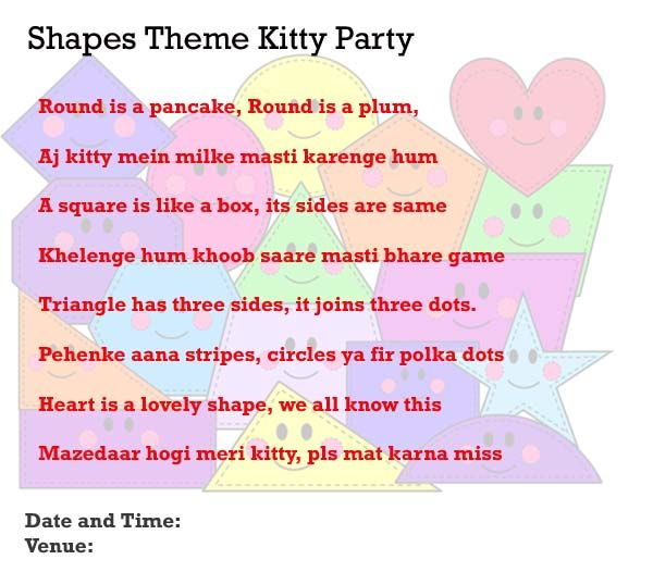 14 best kitty party invitation ideas images on pinterest shapes theme kitty party invitation idea stopboris Images