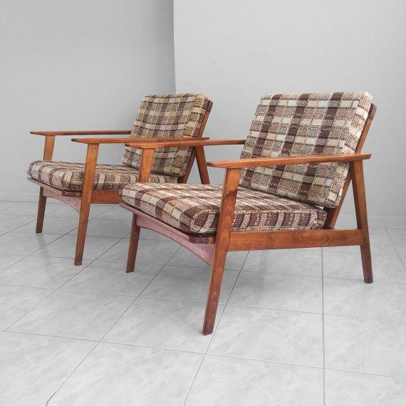 Danish Modern, Chicago Area, Lounge Chairs, Walnut Wood, Rustic Furniture,  Zip Code, Wood Grain, Danishes, Upholstery