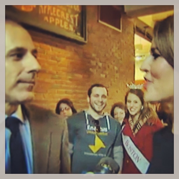 Our CEO jtward2010 and Miss Boston morganberg14 right between TheTODAYShow Hosts as they are interviewed by Channel 7 News!