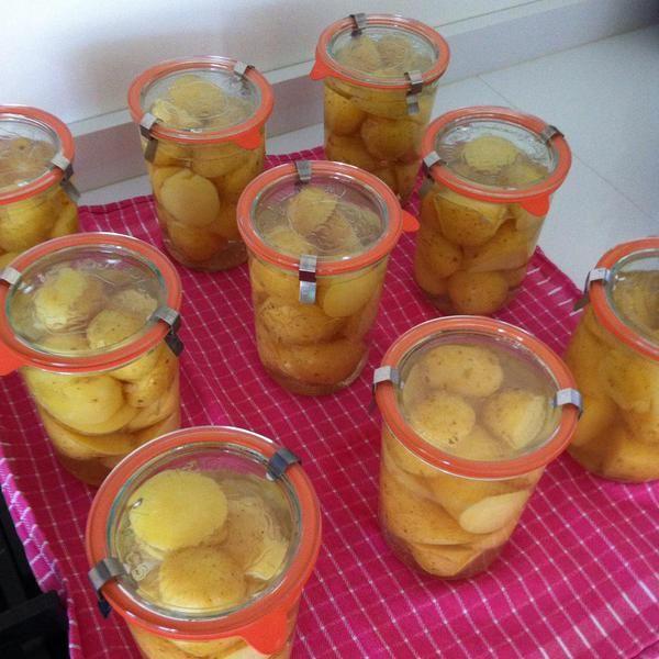 aardappel aardappels piepers wecken inmaken moestuin volkstuin Dit en meer op http://deboon.blogspot.nl