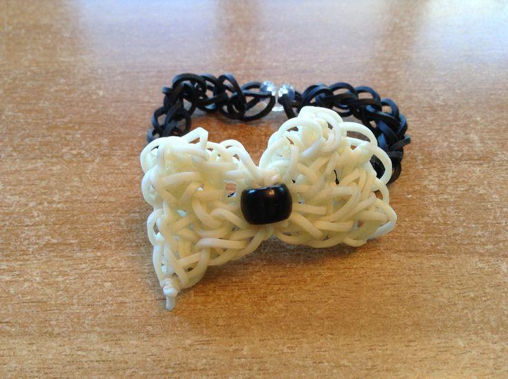 Rainbow loom bow bracelet