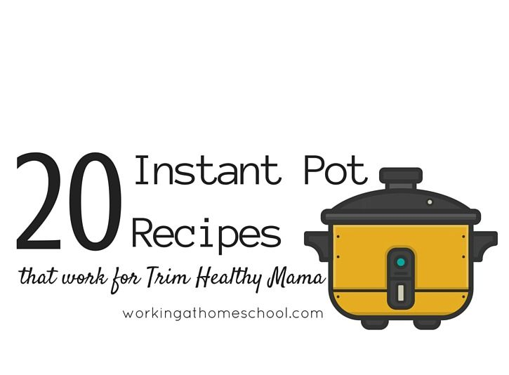 Trim Healthy Mama Instant Pot Recipes! Most (if not all) are Paleo friendly, too!
