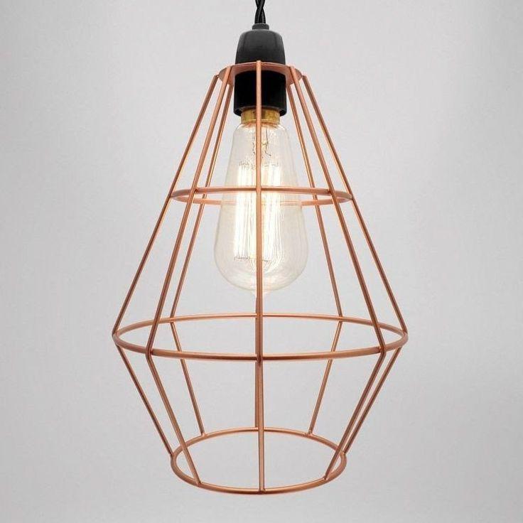 Shoreditch cage pendant copper