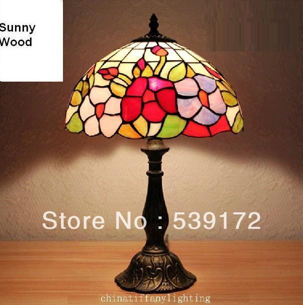 Бесплатная Доставка 12 Дюймов Shell лампа, лампа тиффани, Бесплатная 5 Вт E27 СВЕТОДИОДНЫЕ Лампы для продвижения, настольный Светильник для гостиной 90-260VAC TEN-T-073