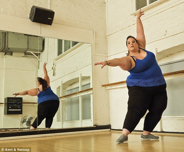 Whitney stopped dancing after she developed polycystic ovarian syndrome while at college and her weight ballooned. But once she had accepted her size and started dancing again, she began feeling more confident