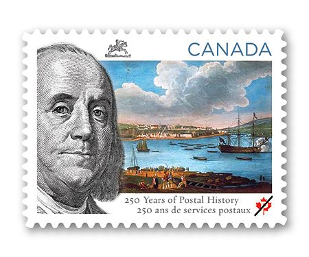 Canada Post - 250 Years of Postal History    In 1763, formal postal service arrived in what is now Canada with a regular Québec-Trois-Rivières-Montréal route.  Issue date June 10, 2013
