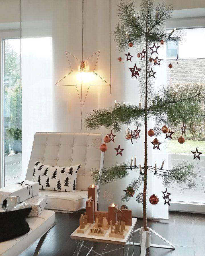 Die besten 25+ Minimalistisch weihnachten Ideen auf Pinterest - wohnzimmer deko weihnachten