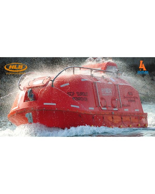 Hyundai Lifeboats Totally Enclosed Type  Hyundai Lifeboats Totally Enclosed Type for vessels up to 85m in length should carry lifeboats in compliance with the law. Totally Enclosed Lifeboat is the type that is stored on gravity davit. Hyundai Lifeboats