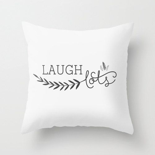 Laugh lots Decorative throw pillows black and by MonochromeStudio, $35.00