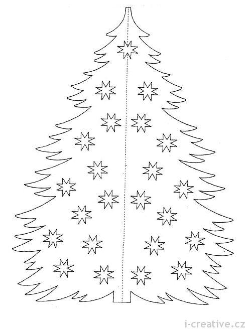 vystřihovánka vánoční stromeček