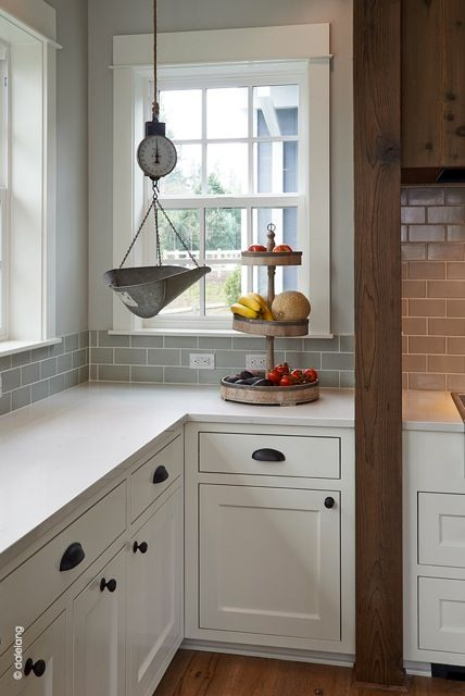 gray subway tiles - My Sweet Savannah: ~west linn farmhouse tour~