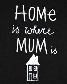 Kiz Canvas Schilderij canvas 18x24cm - Home is where Mum is