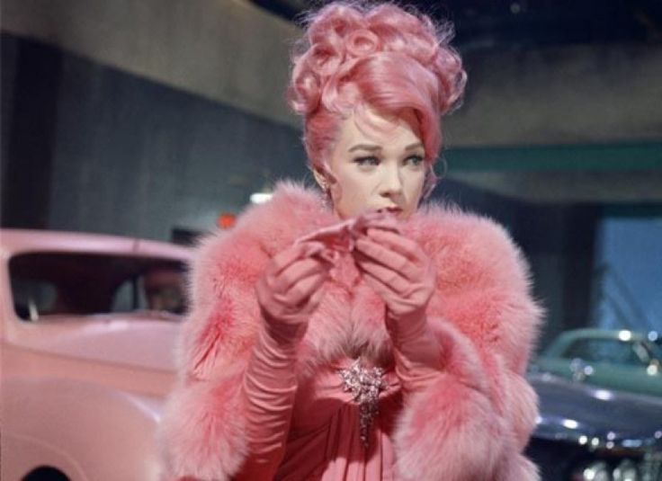 Shirley MacLaine - What A Way to Go 1964: Pink Pink Pink, Shirleymaclain, Hair Colors, Pink Lady, Pink Hair, Vintage Pink, Shirley Maclain, Hair Trends, Feathers Good