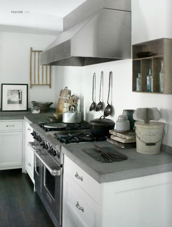 31 best kitchens with concrete counters and wood floors for Cement kitchen cabinets