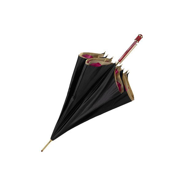 Aspinal of London Ladies Flower Umbrella (1,590 CNY) ❤ liked on Polyvore featuring accessories, umbrellas, fillers, items, black, flower umbrella, cocktail umbrellas, aspinal of london and floral umbrella