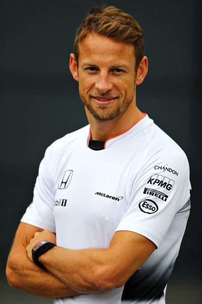 Jenson Button Photos - Jenson Button of Great Britain and McLaren Honda in the Paddock before the Formula One Grand Prix of Great Britain at Silverstone on July 10, 2016 in Northampton, England. - F1 Grand Prix of Great Britain