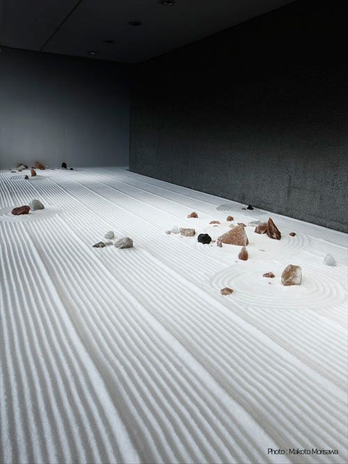 Large scale installations made of salt by Japanese artist Motoi Yamamoto.  A few years ago his younger sister died of brain cancer.  Salt is associated with the rituals of Japanese funerals and the installations are, in part, an expression of his grief and remembrance of her.