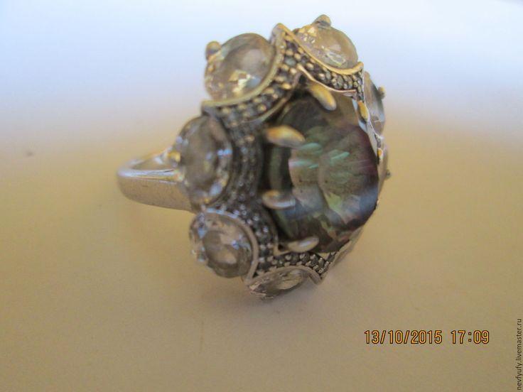 Купить Кольцо Авторская работа. - серебряный, мистик топаз, кольцо, кольцо из серебра, подарок
