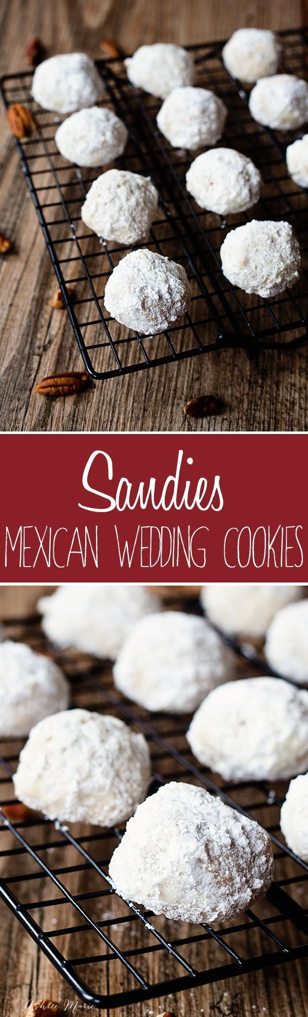 these pecan cookies are known by many names, sandies, mexican wedding cookies or snowballs.  The point is they are delicious and everyone loves them