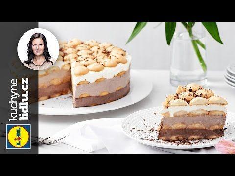Nepečený piškotový dort - Markéta Krajčovičová - RECEPTY KUCHYNĚ LIDLU - YouTube