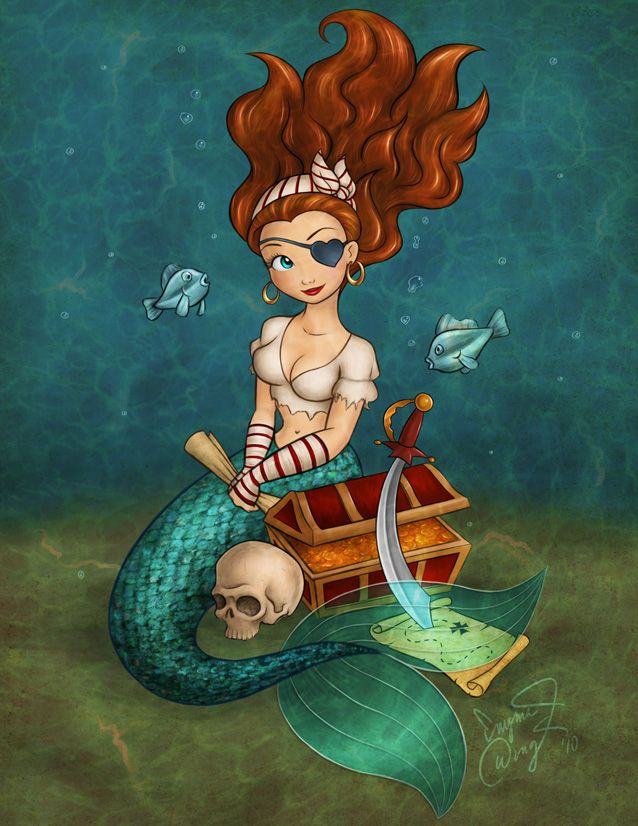 little girl 's room pirate mermaid -- My little 'boo' will love this! She already thinks she is a pirate, mermaid Princess