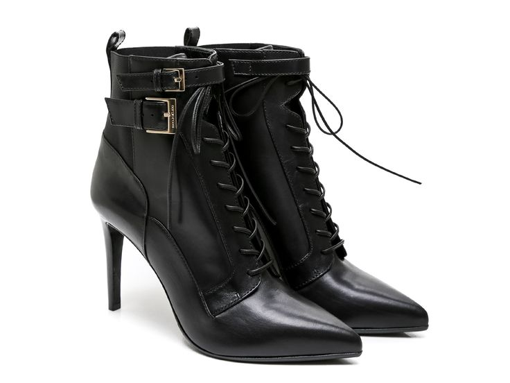 Sergio Rossi heeled booties in black Leather and Fabric - Italian Boutique  €579