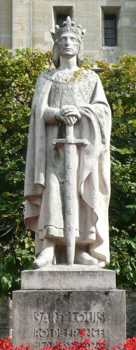 Louis IX, futur saint Louis (1214 - 1270), né et baptisé à Poissy.