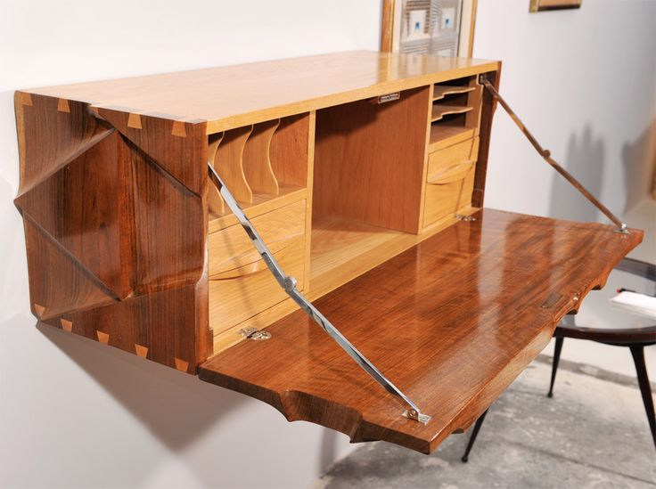Hanging Desk by Michael Coffey | From a unique collection of antique and modern secretaires at https://www.1stdibs.com/furniture/storage-case-pieces/secretaires/