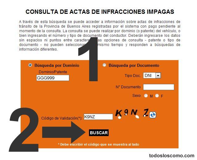 Consultar multas de tránsito hechas en la provincia de Buenos Aires por internet | Todos los Como