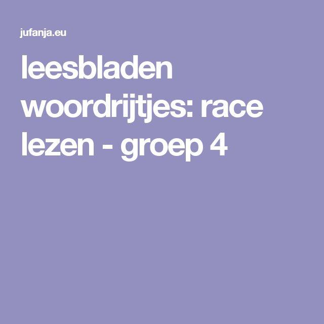 leesbladen woordrijtjes: race lezen - groep 4