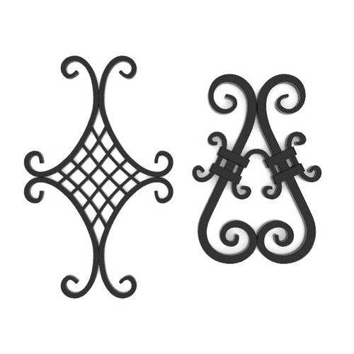 wrought iron elements vol 4 3d model obj fbx blend 1
