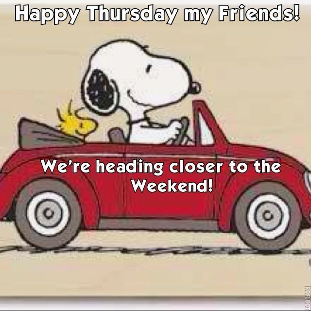 Happy Thursday my friends... snoopy days of the week thursday happy thursday thursday greeting thursday quote
