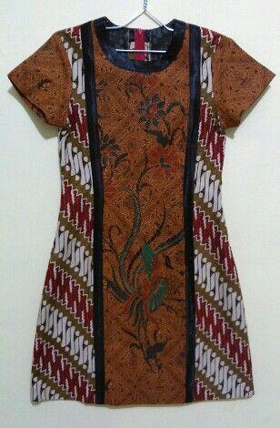 Dress batik cap Solo (Rosary Batik by Felisia Iswara)
