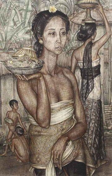 De Balische Offrande (Balinese offerings) - Rudolf Bonnet