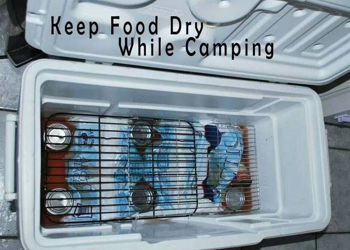 Keep food dry in a cooler