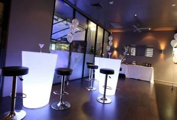 Illuminated Furniture is the latest thing for your modern high school formal. Hire available