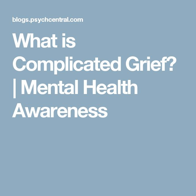 What is Complicated Grief? | Mental Health Awareness