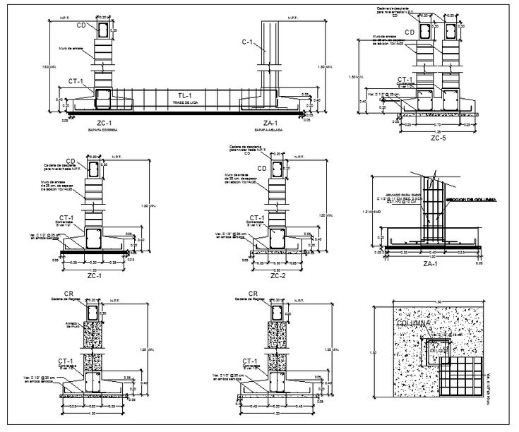 foundation details v1 cad details download autocad cad drawing cad blocks. Black Bedroom Furniture Sets. Home Design Ideas