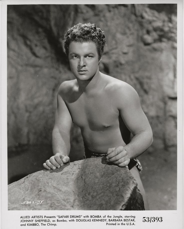 Johnny Sheffield as Bomba the Jungle Boy in Safari Drums. 1953