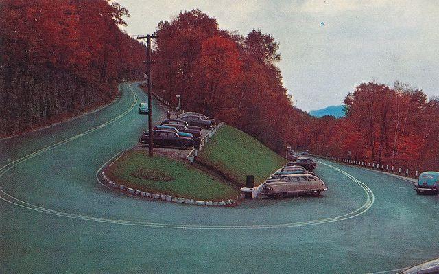 The hairpin turn on the Mohawk Trail, Massachusetts