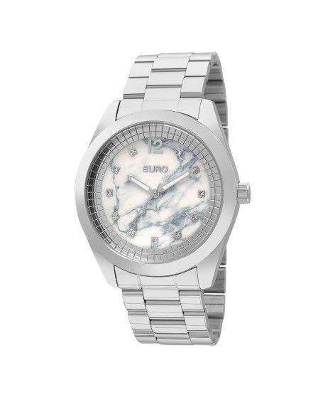 Relógio Euro Feminino Marmorizados EU2036YKU/3B - Prata - euro