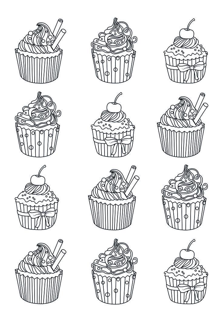 софтбоксы, раскраска антистресс пирожные игла-стилет