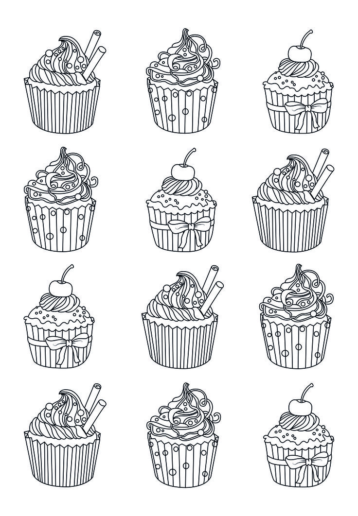 Yum-yum, many coloring page easy to colors ... and eat ? From the gallery : Cup Cakes Artist : Celine