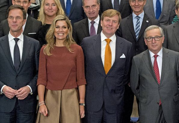 On January 7, 2016, King Willem-Alexander and Queen Maxima of the Netherlands met with members of the European Commission at the Koninklijk Paleis in Amsterdam
