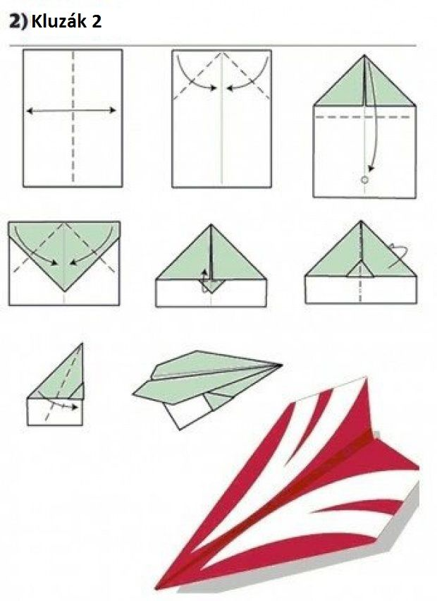 Vlaštovka z papíru - Kluzák 2